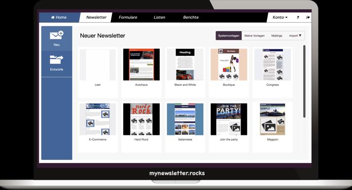 mynewsletter.rocks Email Marketing App Screenshot